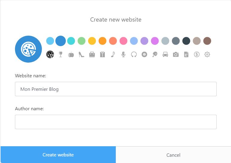 Création de votre premier blogue avec Publii
